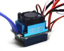 60A Brushless Motor ESC Speed Controller for 1/10 1/16 RC Car 3650 9t 10t motor
