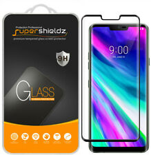 2X Supershieldz Full Cover Tempered Glass Screen Protector for LG G8 ThinQ Black