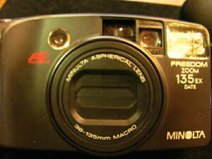 Minolta Freedom Zoom 135 EX Date AF Passive Point and Shoot 35mm Film Camera