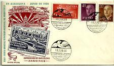 SOBRE PRIMER DÍA. X EXPOSICIÓN FIL. Y NUM. BARCELONA. 1956