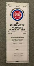 1988 Detroit Pistons vs. Charlotte Hornets Ticket Stub 1st Game at Palace
