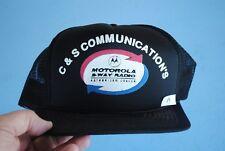 Vintage Motorola 2 Way Radio Snapback Foam Mesh Trucker Hat C&S Communications a