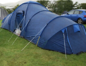 PRO ACTION 6 Person Man Tunnel Tundra Family Tent 2 Bedrooms Blue