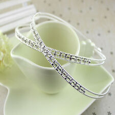 Women Girl Lady  Metal Crystal Headband Head Piece Hair Band Jewelry Hairband