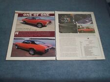 """1970 Chevelle SS396 in Factory Hugger Orange Article """"One of One"""""""