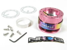 NRG Steering Wheel Quick Release Kit Gen 2.0 Pink Body w/ Neo Chrome Ring NEW