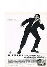 PUBLICITE ADVERTISING  1962    TELEFUNKEN    magnétophone