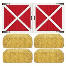 BARN LOFT DOORS & HAY PROPS*Wall Decorations*FARM ANIMAL*Barn Yard B-Day Party