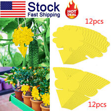 12Pcs Sticky Traps Flying Plant Insect Glue Catcher for Aphids Gnats Whiteflies