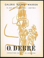 1956 Vintage Galerie Michel Warren Gallery Debre Art Exhibition Print Ad