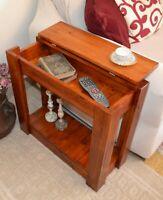 Tavolino da divano salotto caffè in legno massello Tavolo con Contenitore Noce