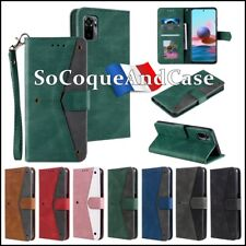 Etui Coque Housse Rivet Decor Splicing Wallet Case Cover Xiaomi Redmi Note 10