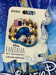 2020 Disney Parks Pin New LE Fantasia 80th Sorcerer Mickey & Broomsticks
