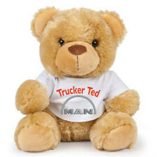 Teddy trucker ted MAN brown teddy bear soft toy CE approved 17cm