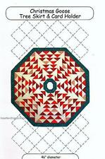 Christmas Goose Tree Skirt & Card Holder   Pieced Quilt Pattern