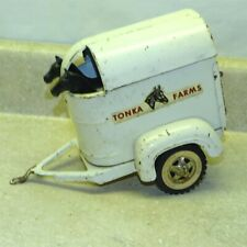 New ListingVintage Tonka Farms Horse Trailer Only, + 2 Horses, Pressed Steel Toy, Original