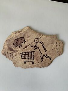 Banksy Wooden Sculpture Peckham Rock British Museum Post Card RARE OFFICIAL