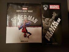 Brooklyn Nets SGA Giveaway Marvel Black Panther & Spiderman Bobbleheads LOT