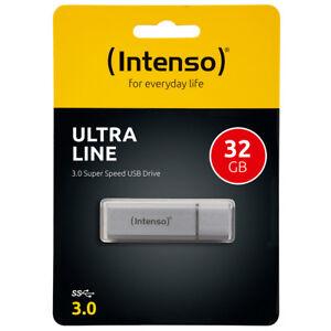 kQ Intenso Ultra Line USB Stick 32GB Highspeed USB 3.0 Alu silber 32 GB