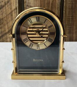 Bulova Archtop Jukebox Green Jade Mantle Shelf Desk Alarm Clock B1438