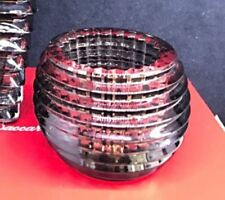 Baccarat Cristallo Crystal Portacandela Candleholders Eye Votive GREY Gray Box