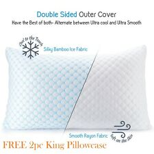 ❄Cooling Memory Foam Pillow Ventilated Bed Pillow Infused Cooling Gel King 3Pack