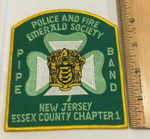 Arm Patch Essex County NJ Police And Fire Emerald Society Pipe And Band