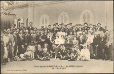 28 TOURY CARTE POSTALE UNION MUSICALE TOURY CHIFFA ALGERIE 1912