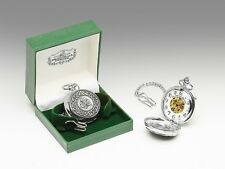 Mullingar Pewter Shamorck Pocket Watch Celtic Design p2943 - Made in Ireland