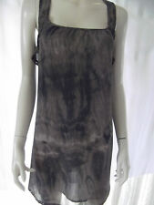JUST JEANS Womens Charcoal & Blue sleeveless Sheer Dress - size 6 - BNWT