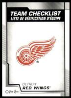 2020-21 UD O-Pee-Chee OPC Base Team Checklist #561 Detroit Red Wings