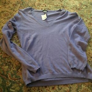 NWT J. Crew Outlet Women's Purple V-Neck Sweater - M