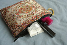60 Pieces Zipered MakeUp Bag Wholesale Price! Ethnic Tribal Boho Carpet Pattern