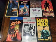 Action movie Lot Vhs Mad Max, Lethal Weapon, Wanted Dead or Alive, The Warriors,