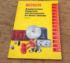 Genuine Bosch Equipment Accessories Parts List Catalogue Book 1982 Classic