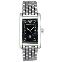NEW EMPORIO ARMANI MENS BLACK CLASSIC STEEL WATCH - AR0115 - RRP £199