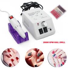 Pro Salon Electric Nail Art File Drill Set Manicure Machine 20000 RPM UK Plug