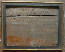 Small Ancient Picture Frame Wooden Black-Gold