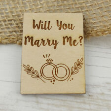 "Will You Marry Me Proposal Keepsake Magnet 2"" x 1.5"" Engraved Wood Marriage Love"