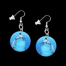 DOLPHIN DANGLE 1 INCH BUTTON EARRINGS 9931053 new ocean fun fashion jewelry