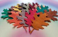 Felt Oak Leaves, Autumn Shades, Pretty Die Cut Craft Embellishments