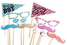 Photo Booth Props - Gender Reveal Baby Shower Props Set of 12PC