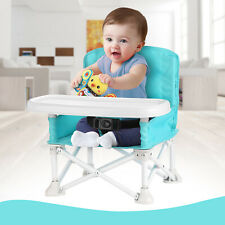 Travel Booster Chair Seat Eating +Tray for Baby Toddlers Infant Portable Folding