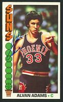 Alvan Adams #75 signed autograph auto 1976-77 Topps Basketball Trading Card
