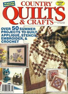 Country Quilts & Crafts Magazine July 1988 50 Summer Quilt Projects