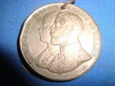 Old Vintage Metal Round Medal Of  T.R.H. Price and princess Of Wales Royal Visit