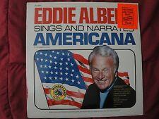 EDDIE ALBERT SINGS AND NARRATES AMERICANA SEALED VINYL LP WONDERLAND RECORDS