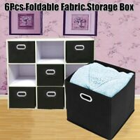 6 Pack Storage Cube Basket Shelf Closet Drawers Best Home Toy Organizer Box Bin