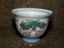 VINTAGE PORCELAIN SAKE TEA CUP Hand Painted Raised Design_AUS LIFE 832-8