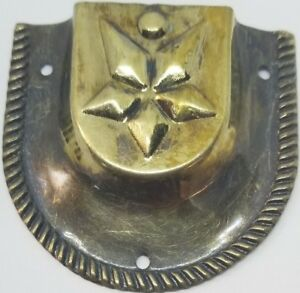 Antique Brass STAR Trunk Handle end cap Loop chest steamer cover vintage old NEW